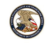 The United States Patent and Trademark Office logo