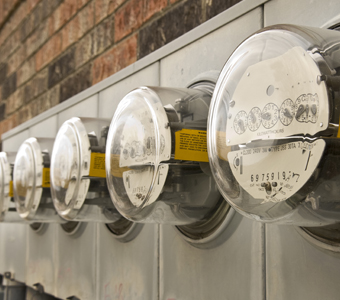 Row of Electric Meters