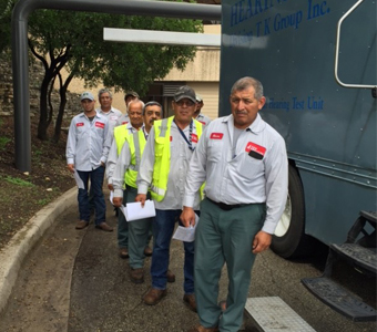 C&W Services Employees Waiting for Hearing test