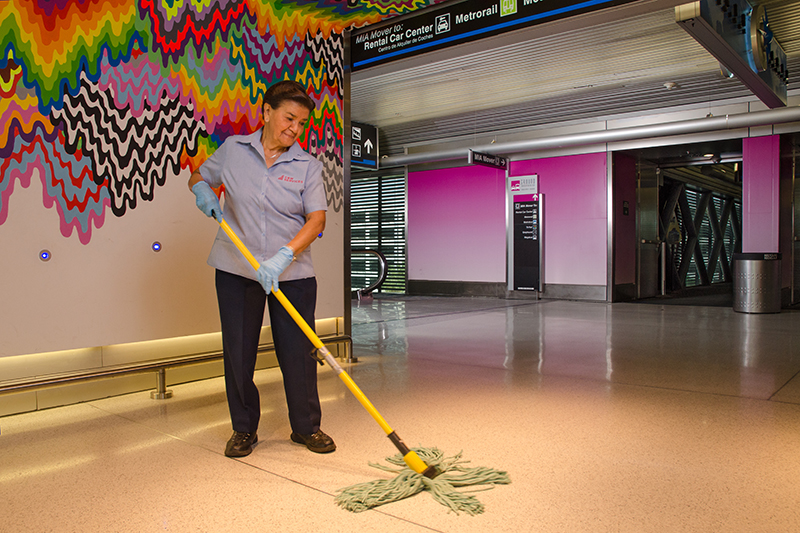 Mopping at MIA