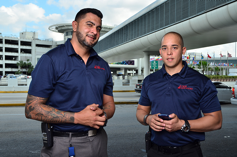 C&W Services employees at Miami Airport