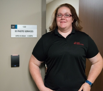 Becky is in charge of badging at a FM site.