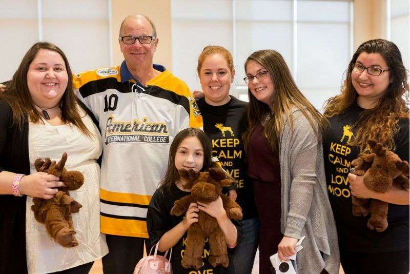 AIC students celebrate Moose Appreciation Day at the campus, maintained beautifully by C&W Services.