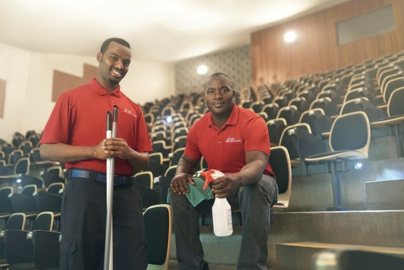 C&W Services is a company that implements green cleaning on a national scale.