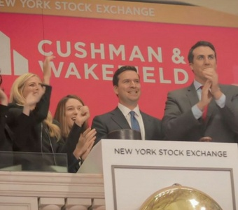 Cushman & Wakefield goes public. Our team at the bell ringing ceremony.