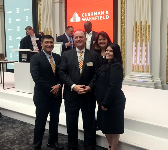 C&W Services was at the NYSE alongside Cushman & Wakefield for the IPO.