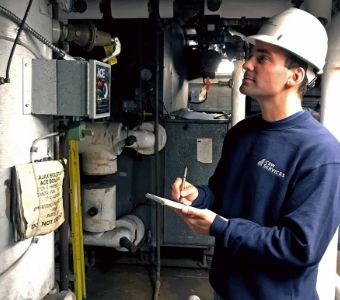 Justin, an HVAC apprentice, is developing his facilities career at C&W Services.