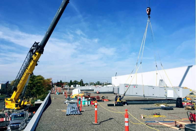 C&W Services does green energy improvements on Cosmetica's facility.