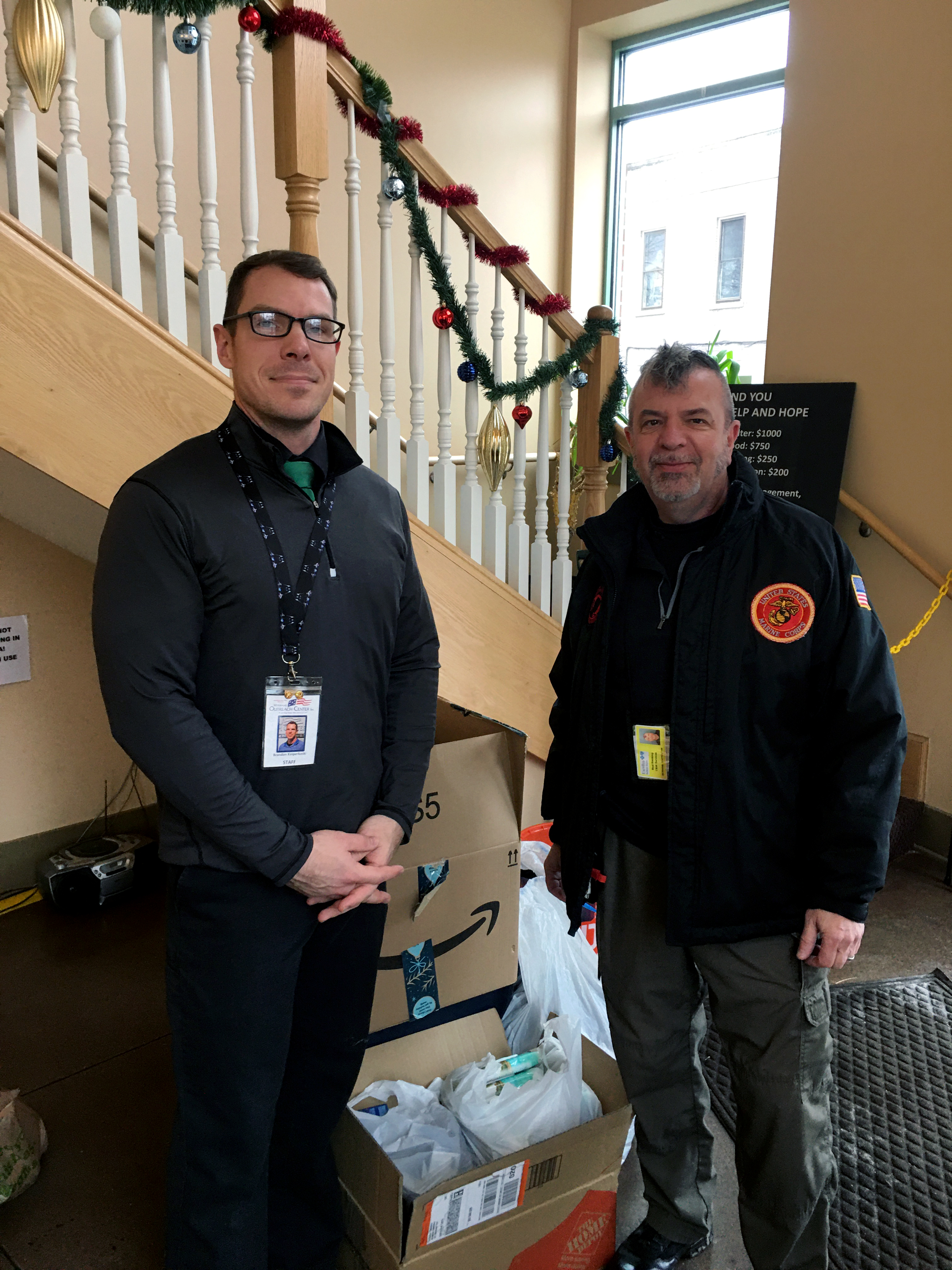 Bud Redding collects donations for homeless veterans in NY state