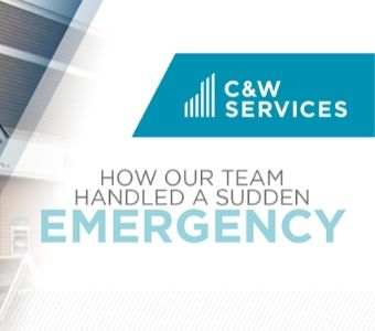 Our facilities services team effectively deals with all kinds of emergencies.